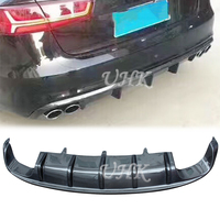 UHK For Audi S6 Carbon Fiber Rear Diffuser Accessories BodyKit Trunk Splitter Protector Spoyler Protector Car Racing
