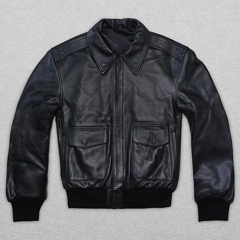2017 신품 남성 정품 가죽 재킷 캐주얼 두꺼운 쇠가죽 채찍 뚱뚱한 큰 야드 S - XXL 러시아 겨울 코트 무료 배송