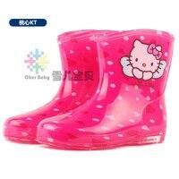 새로운 arrvial hello kitty 소년 소녀 rainboots 편안한 비 신발 당신