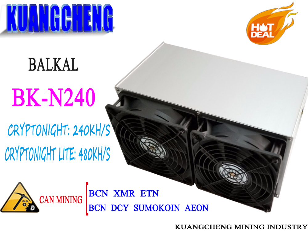 Free Shipping BK-N240 Baikal Giant N240 Cryptonight 240KH/S Cryptonight-lite 480KH/S 650W With PSU Better Than Atminer X3