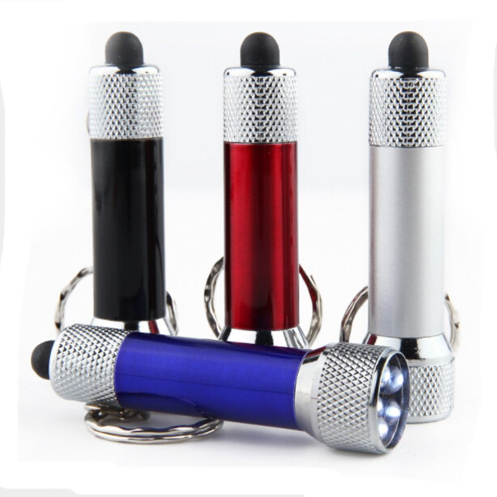 Portable 5 LED Mini Flashlight Light Torch Aluminum Keychain Keyring Chain Good