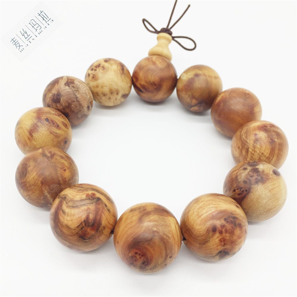 Random Tree Knot Fine Thuja Sutchuenensis Wooden Men Bracelets 2018 Fashion Jewelry