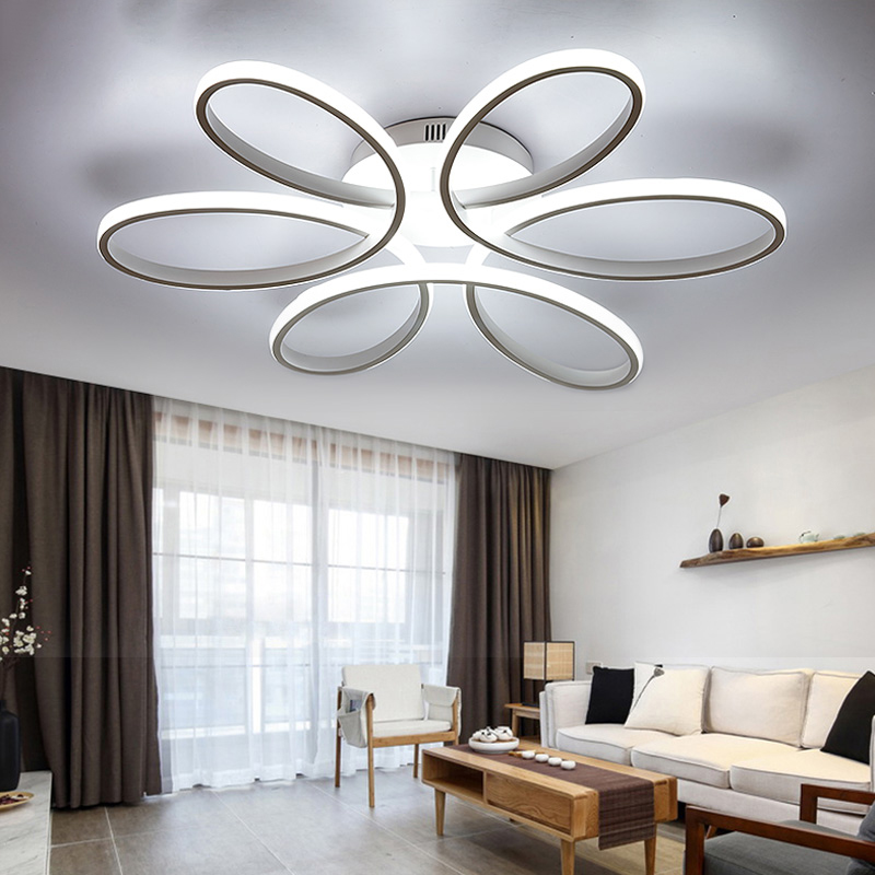 New modern led chandelier for living room bedroom dining room aluminum body Indoor home chandelier lamp lighting fixture modern crystal chandelier hanging lighting birdcage chandeliers light for living room bedroom dining room restaurant decoration
