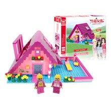 Купить с кэшбэком Building Blocks Brinquedos Model set Figures Toys  girl's warm cottage For girls Compatible with Legoings friends
