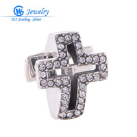 2016 new religion cross charm 100% Sterling 925 Silver Factory Wholesale X003H20
