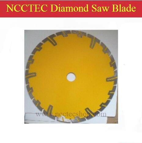 8 ''200mm diamant disque de coupe à sec scie lame plaque roue avec de longues dents de protection courtes pour la coupe à sec granit grès