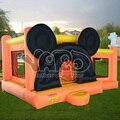 Oferta especial, en stock, Mickey mouse gorila inflable con océano piscina de bolas, juguetes inflables saltando, juguetes inflables trampolines