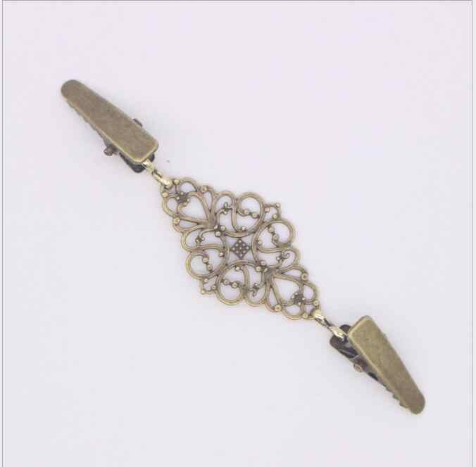 1 pz Retro Maglione Cardigan Clip Fibbie Fibbia In Metallo di Modo del Metallo Bottoni Per La Decorazione Dei Vestiti Ganci per indumenti
