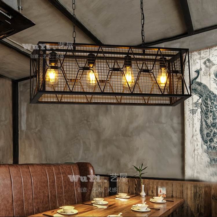 купить Retro iron art industrial Pendant Light bars coffee shop creative personality nostalgic art attic pendant lamp dropligh ya73 GY1 по цене 8499.69 рублей