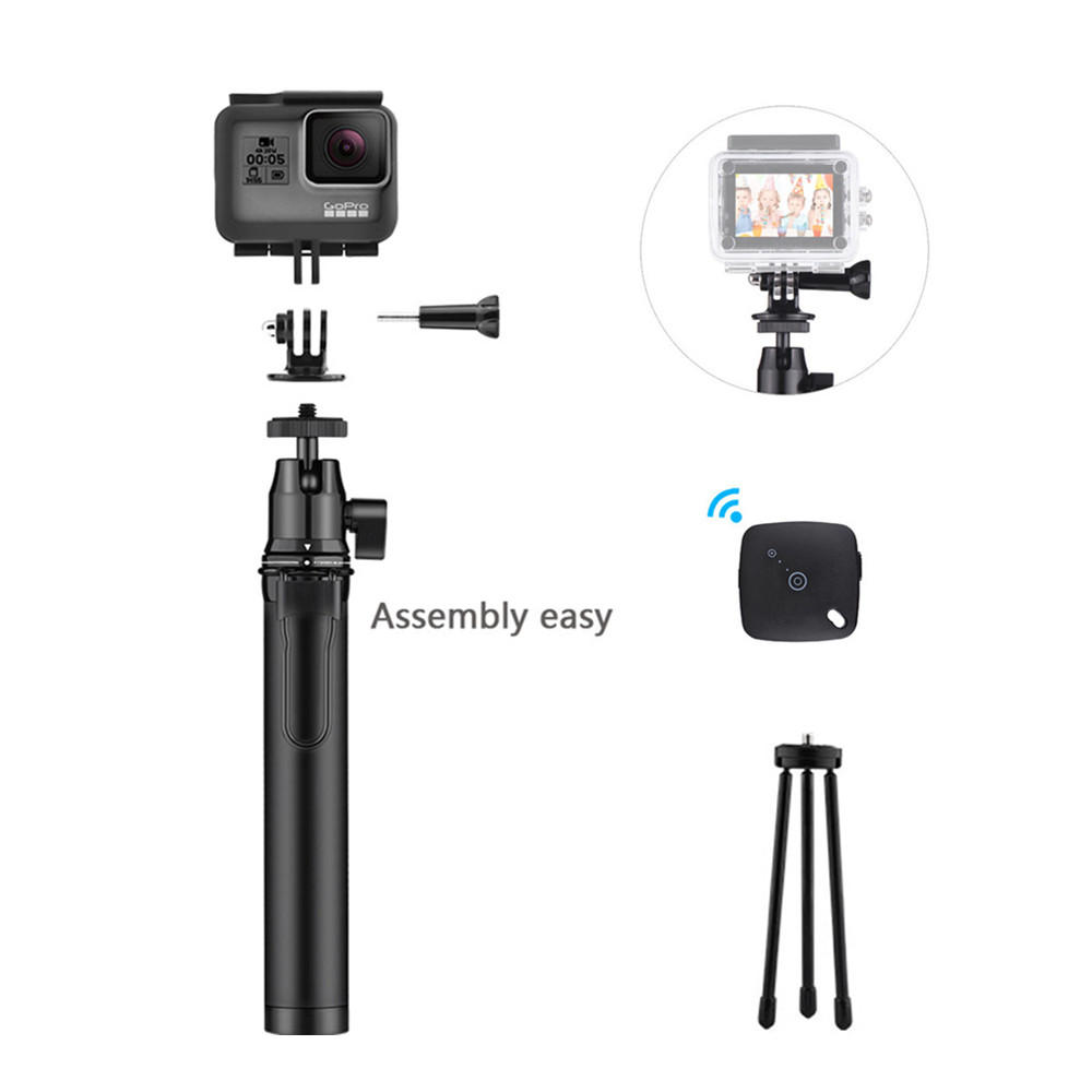 2018 Original Portable Telescopic Tripod Selfie Stick for iPhone X 8 8Plus 7Plus 7 Selfie Stick Tripod for GoPro Hero 6 5 4 3+ 3 original 5 1658462 3