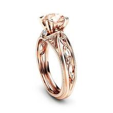 14k Rose Gold Diamond Ring Fashion 2019 Ametrine Jewelry Anillos De Bizuteria Gemstone and Wedding Rings Gem