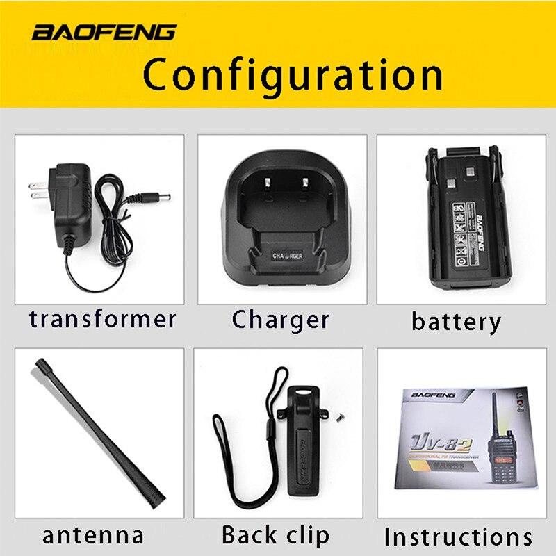 Купить с кэшбэком (4 PCS)BaoFeng UV-82 Dual-Band 136-174/400-520 MHz FM Ham Two Way Radio, Transceiver, Walkie Talkie