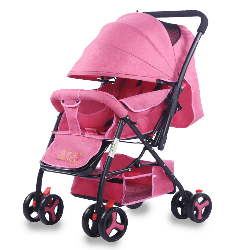 Baby Stroller Can Sit And Lie  Folding Umbrella super light baby carriage light foldable baby stroller 3 in 1 cozy can sit and lie lathe umbrella car stroller carry bag 4 colour three wheels single seat