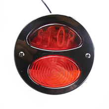 Motorcycle 35LED Retro Red STOP Brake Light Rear Tail Lamp for Harley Honda Suzuki Chopper Bobber KTM