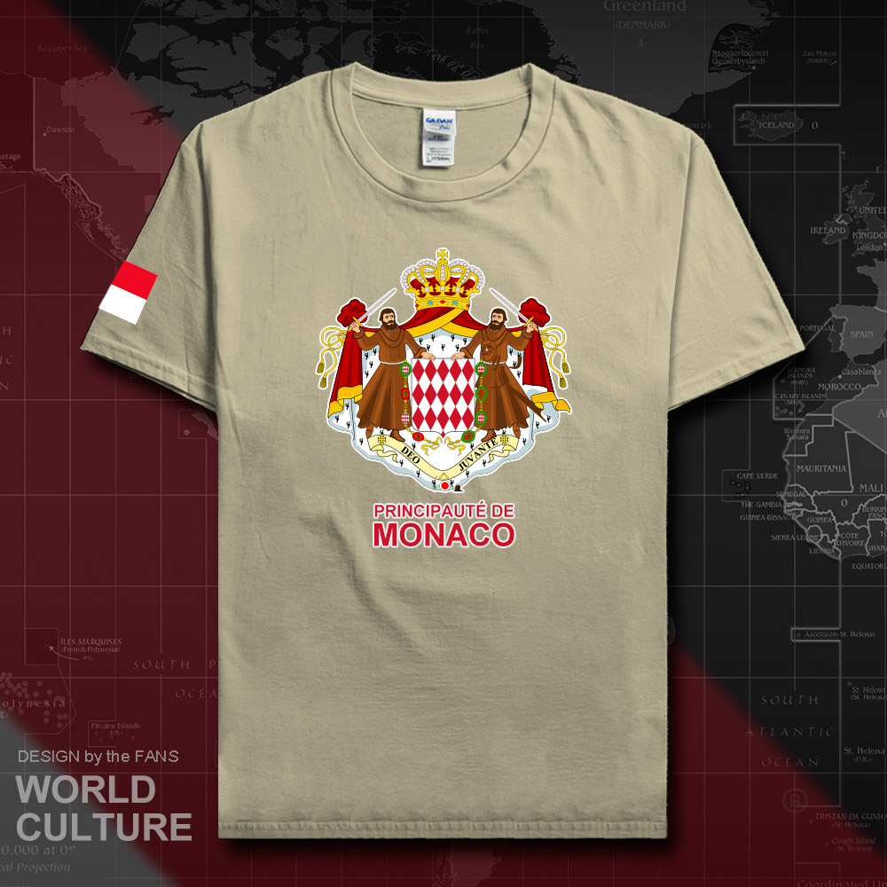 Principality of Monaco MCO <font><b>MC</b></font> men <font><b>t</b></font> <font><b>shirt</b></font> fashion 2018 jersey nation team 100% cotton <font><b>t</b></font>-<font><b>shirt</b></font> Sportswear fitness tees new 20 image