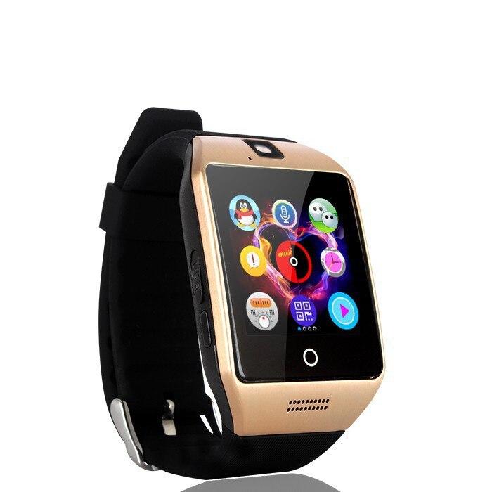 2017 nouveau Q18 passomètre montre intelligente avec écran tactile caméra TF carte Bluetooth smartwatch pour téléphone Android IOS