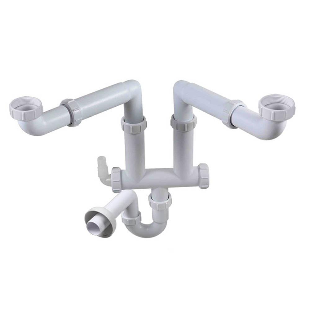 Talea Double Sink Drain Pipe for Kitchen Sink Waste flexible drain pipe sink drainage system Sink Basin downcomer hose GR005C002