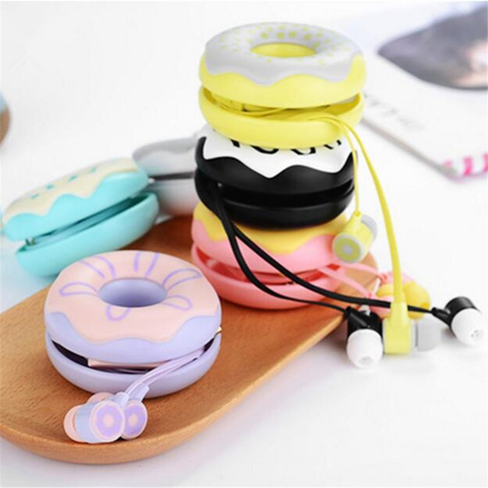 Donut case Candy Color Cute Earphones Mic headphone for girls Kids 3.5mm Earbuds for iPhone Samsung Huawei MP3 iPod Cellphone  samsung headphones | Samsung Gear IconX Review: Truly Wireless Earbuds But Don't Buy Them! Donut case Candy Color Cute Earphones Mic font b headphone b font for girls Kids 3