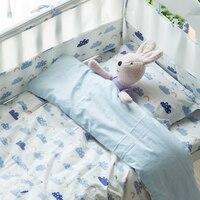 9 шт./компл. маленьких Постельное белье хлопок детская кровать комплект КРОВАТКИ комплект включает кроватки защиты бамперы простыня Стёган