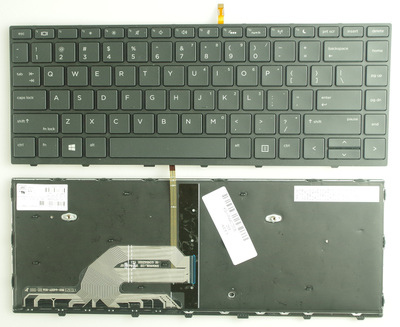SSEA New US <font><b>Keyboard</b></font> with backlit For <font><b>HP</b></font> 440 G5 <font><b>430</b></font> G5 Laptop <font><b>keyboard</b></font> with Frame image