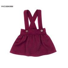 Хлопковая юбка принцессы для маленьких девочек повседневная юбка-пачка на подтяжках Одежда для девочек