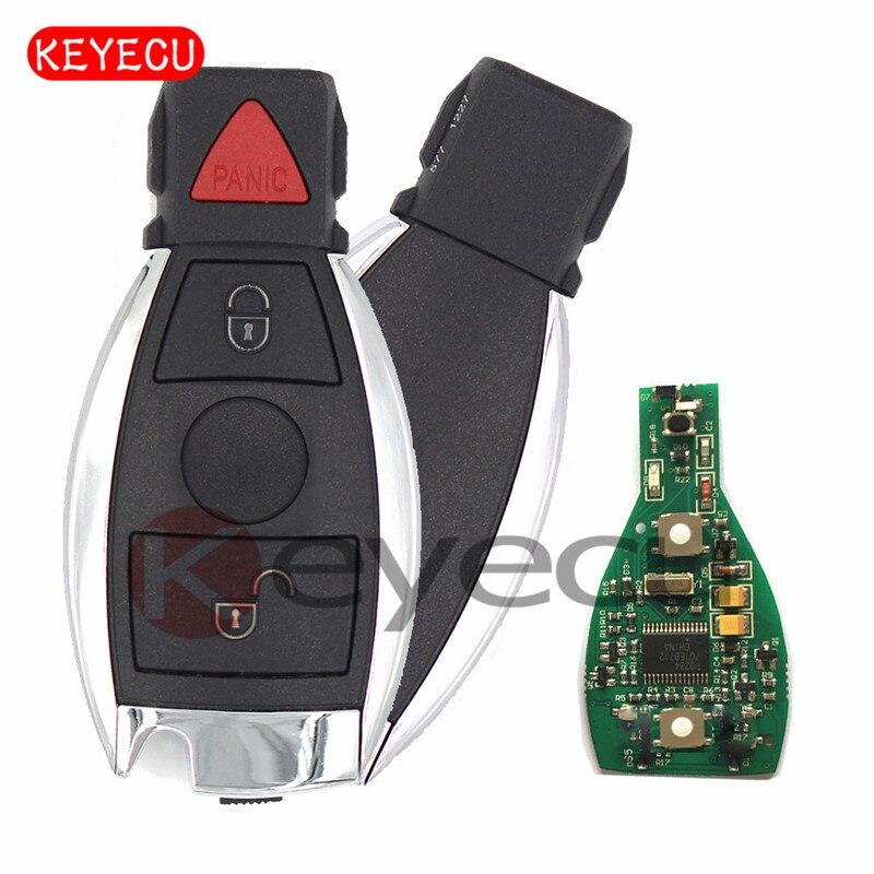 Keyecu 5PCS/LOT New Smart Remote Key 315MHz / 433MHz 2+1 Button for Mercedes-Benz BAG & NEC 2000+