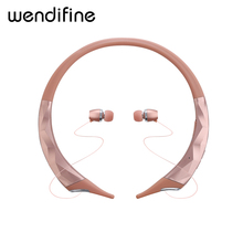 цена на Bluetooth Wireless Earphone Headset Retractable Earbuds Neckband Sport Headphones Wireless Stereo Bluetooth Earphones with Mic