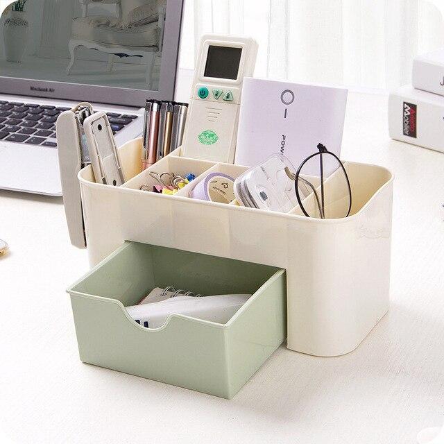 Mini Makeup Organizer Box Jewelry Necklace Nail Polish Earring Plastic Makeup Box Home Desktop Organizer For Cosmetics 2