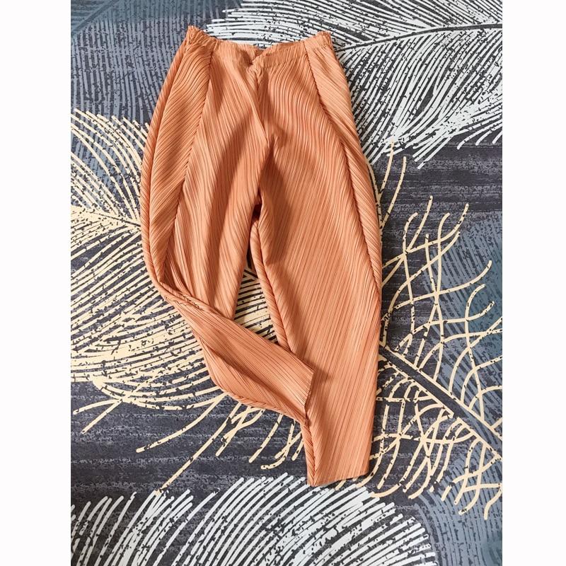 Changpleat 2019 Summer New Women Harem Pants Miyak Pleated Fashion Design Solid Elastic Waist Loose Large Size Female Pants Tide