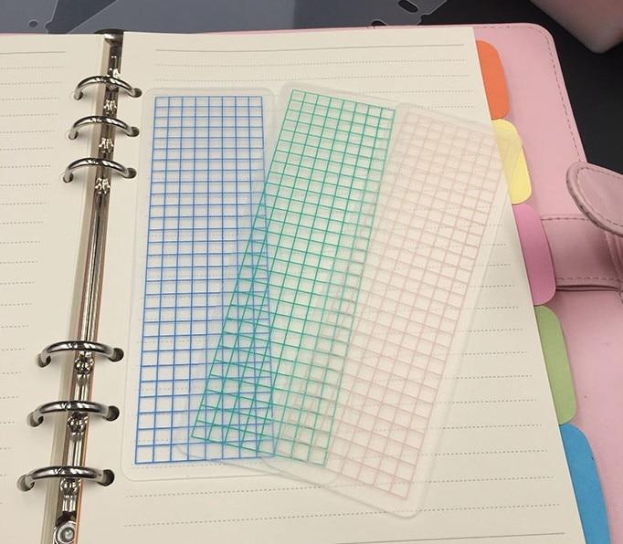 6pcs/lot Kawaii Grid PVC Washi Tape Sheet Transparent Tape Board Scrapbooking Tools Planner Stationary Supplies