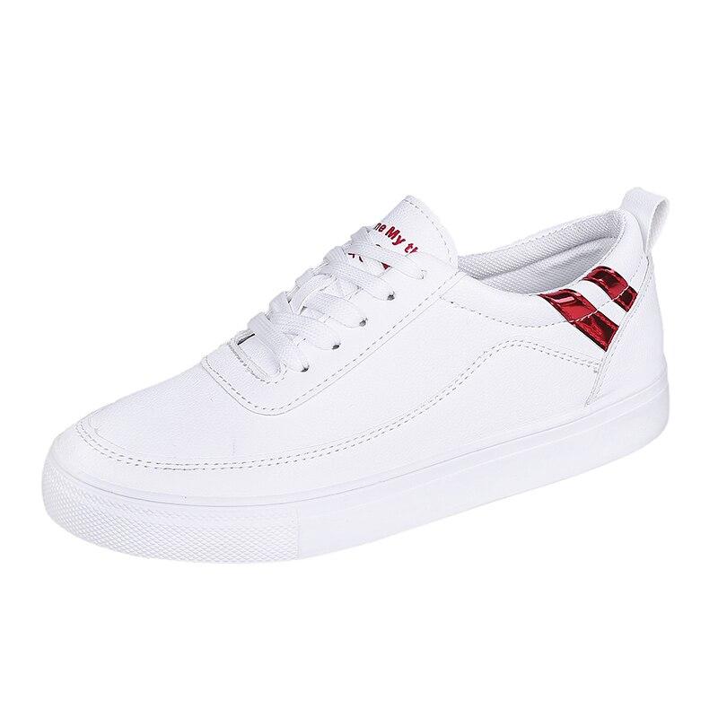 Spring/Autumn White Shoes Women 2018 New Flat Casual Women Skateboard Shoes 5