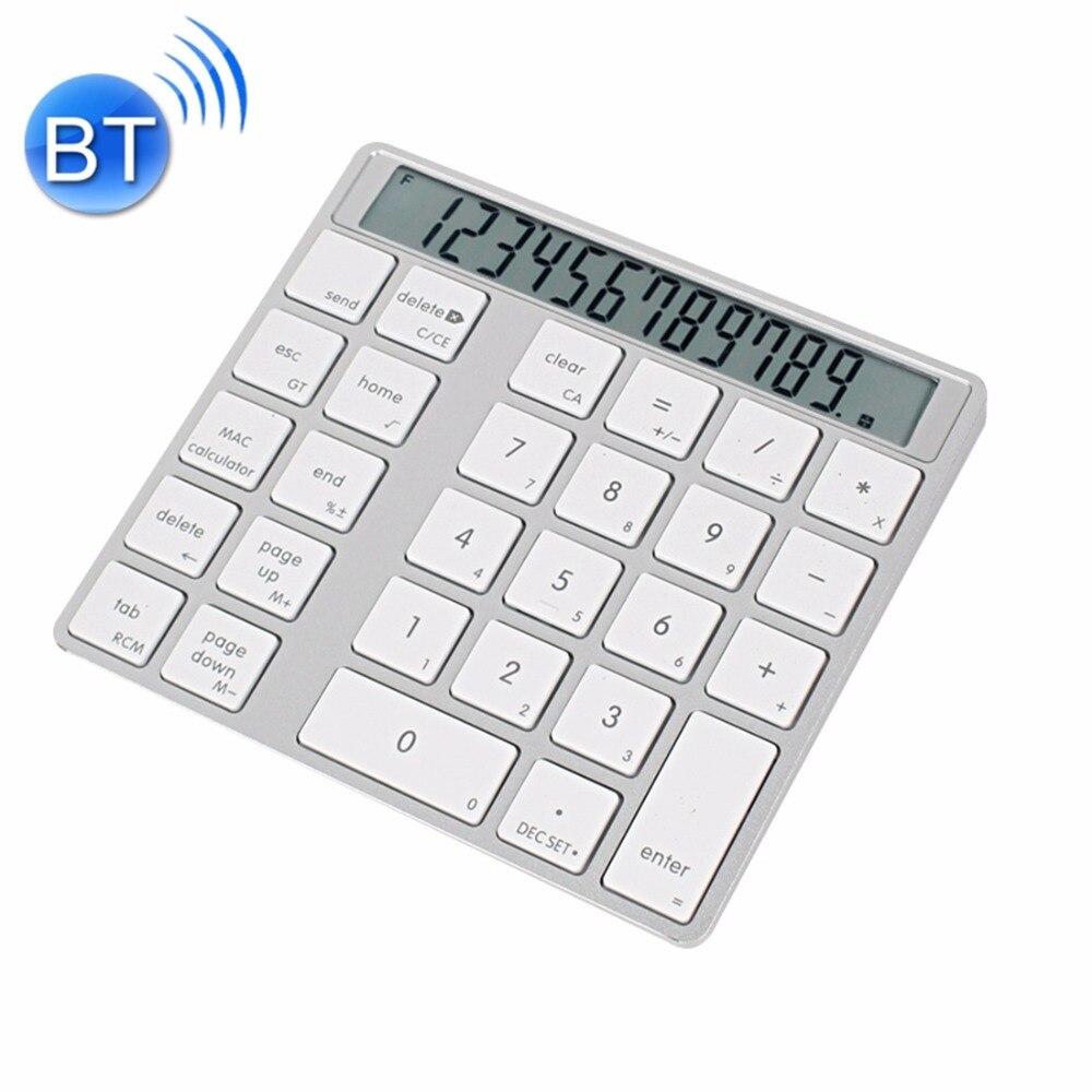 MC Saite MC 58AG USB Charging Bluetooth 3 0 Numeric Keyboard with 12 digit Display LED