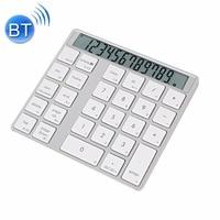 MC Saite MC 58AG USB Charging Bluetooth 3.0 Numeric Keyboard with 12 digit Display LED indicator for Laptop Desktop PC Notebook
