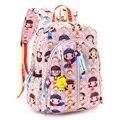Boneca bonito Dos Desenhos Animados Gato Impressão Mini Emoji Alunos Escola Bags Meninas Colorido Mochila Harajuku Mochila Crianças Mochila
