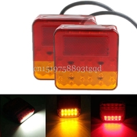 2 X Car 12V 16 20 LED Trailer Tail Light Left Right Taillight Truck Car Van