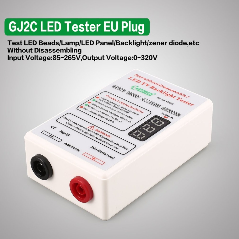 GJ2C Tester Medidor de Tensão LEVOU Tela TV LCD Backlight Lâmpada Tira Luz Talão Placa de Teste Ferramenta de Reparo Saída 0 ~ 320 v Plugue DA UE