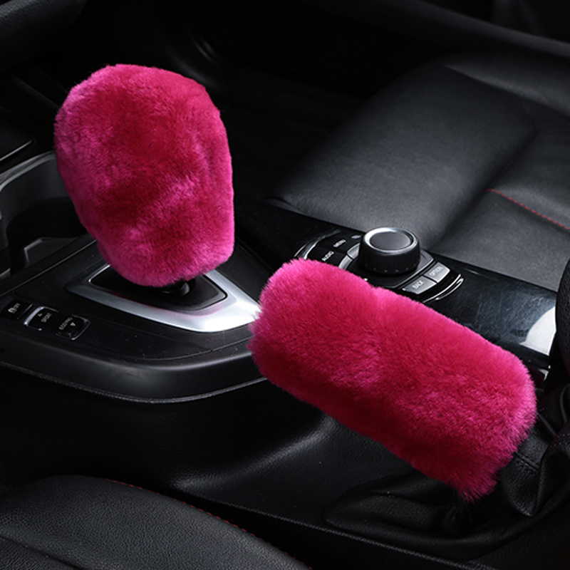 Winter Plush Fur Car Hand Brake Cover Shift Knob Cover For Buick Regal Lacrosse Excelle GT/XT/GL8/ENCORE/Enclave/Envision/Park