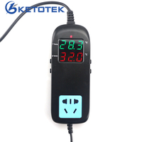MH2000 AC 85 250V Digital Thermometer Temperature Controller With Socket For Cultivation Fish Tank 40 120C