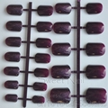 the new Sexy female candy fashion fake fingernails short round tail tip Deep burgundy N0100