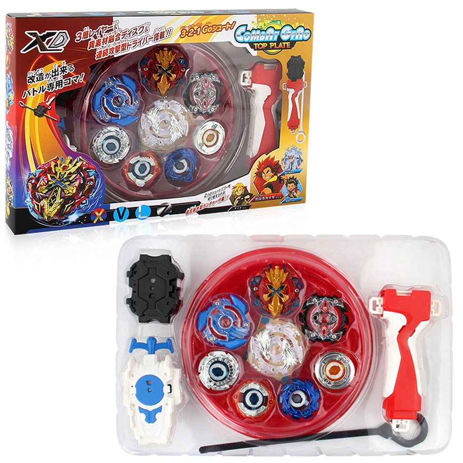 New 4PCS Boxed bayblade Beyblade Burst 4D Launcher Arena Metal Fight Battle Fusion Classic Toys B48 B66 B34 B59 Original Box sog fusion battle ax