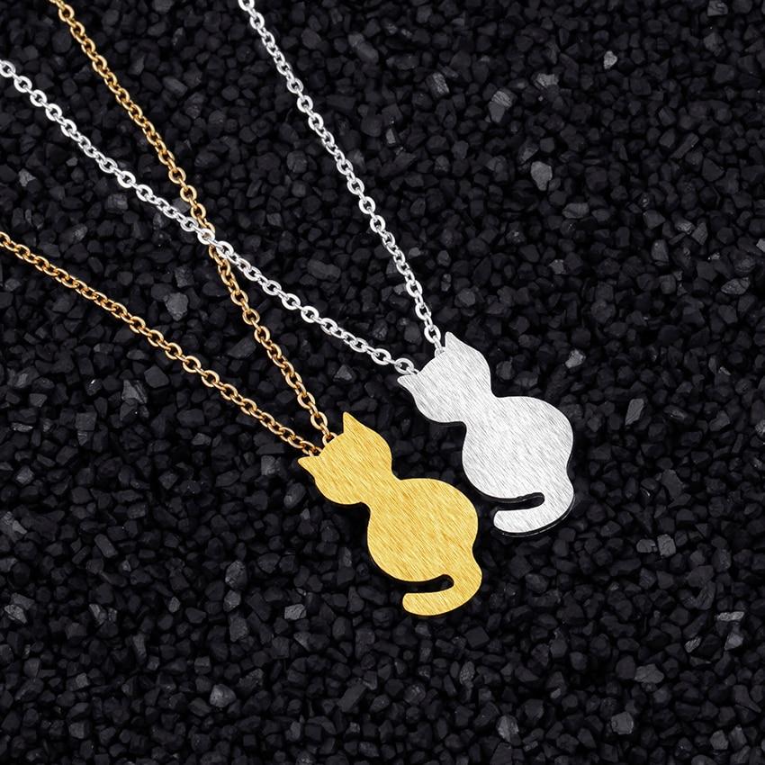 Little Cat Choker Gold Chain Jewelry 11