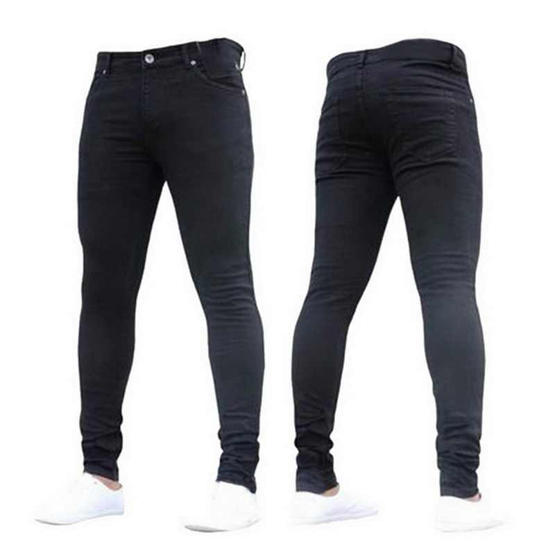 NIBESSER heren merk Skinny jeans Broek Casual Broek 2019 denim zwarte jeans homme stretch potlood Broek Plus Size streetwear 3XL