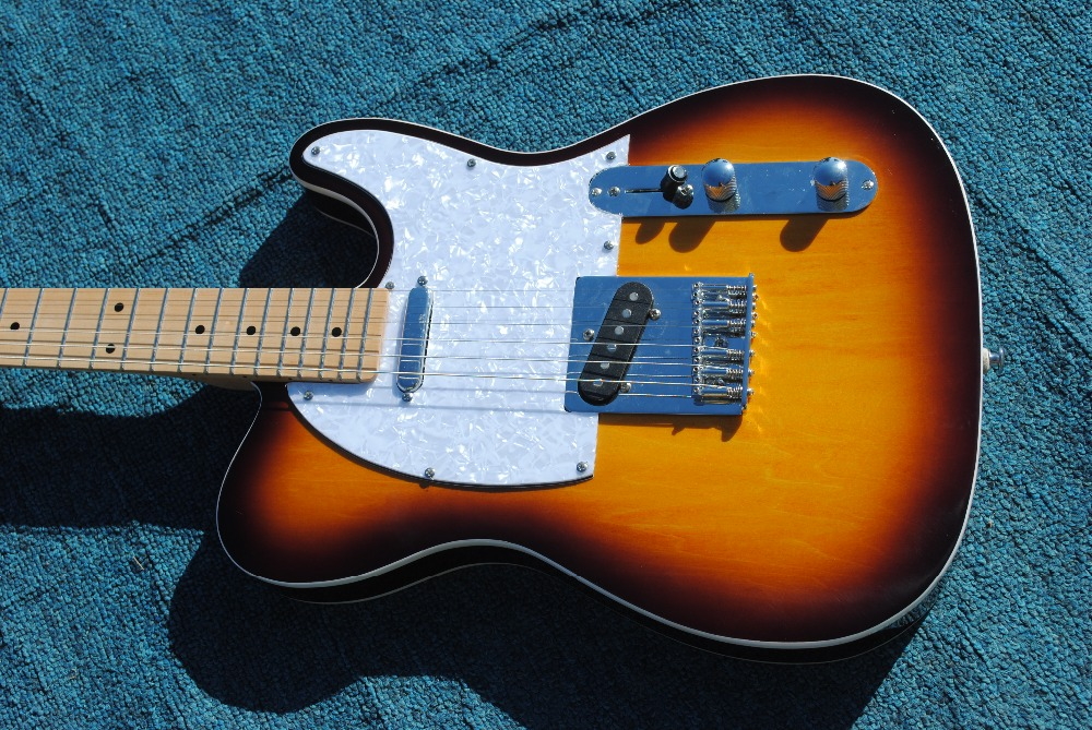 Hot Sale telecast electric guitar new style vintage sunburst color real pics tl guitar high quality free shipping