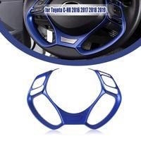 For Toyota C HR 2016 2017 2018 2019 Interior Steering Wheel Button Cover Trim Car Accessories Interior Frame Garnish