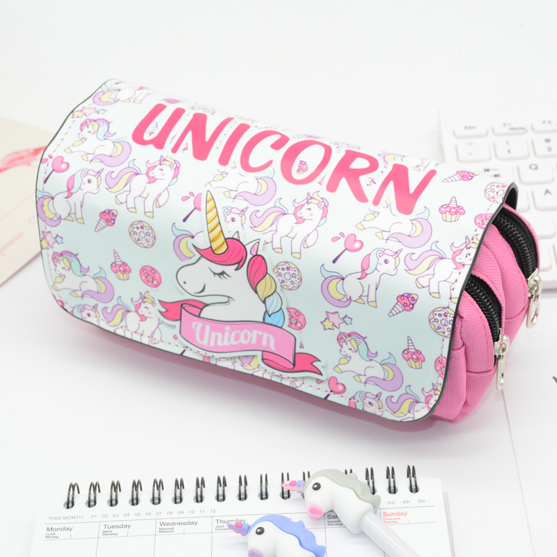 Unicorn Pencil Case Pen Pouch Estuche Kawaii Lapiz Unicornio Pennenzak Estuche Lapices Etui Cartoon School Bag For Boys