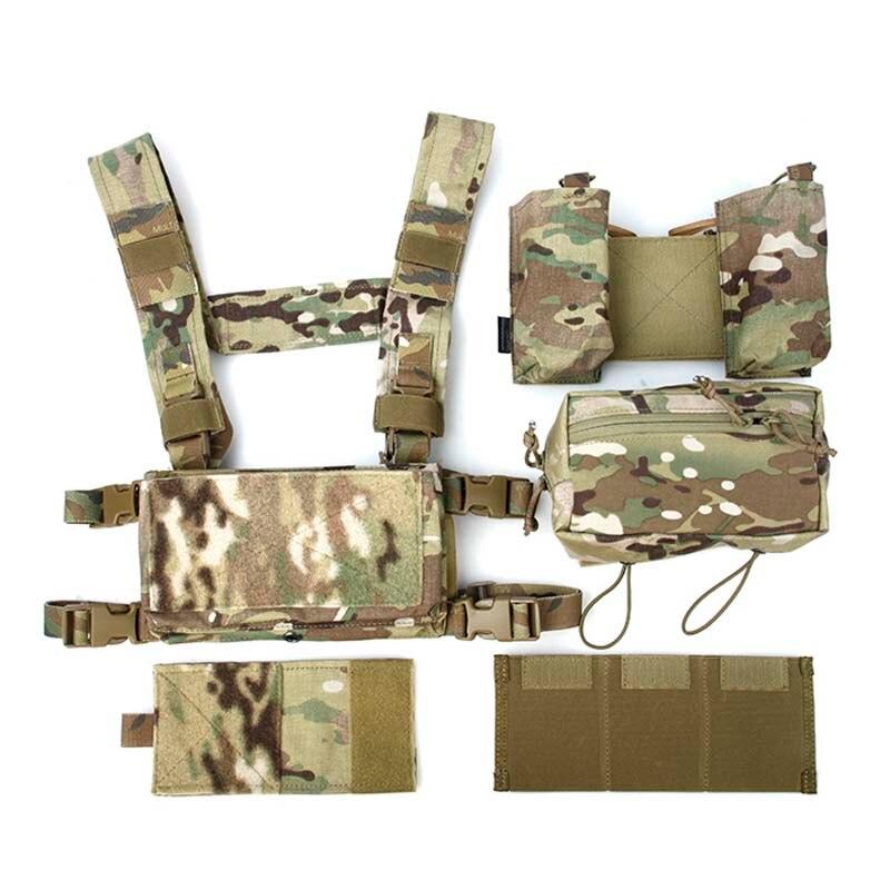 TMC Lightweight Multicam Tactical Vest SS Modular Chest Rig Set Chest Hanging MC 500D Multicam Cordura hearth