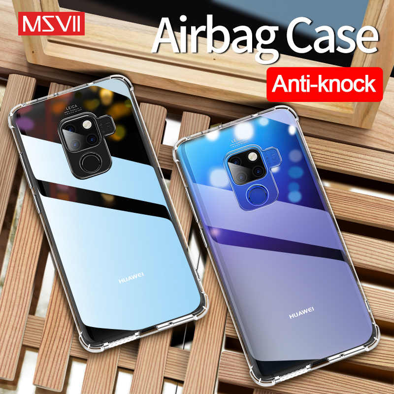 Msvii silicone Transparent For Huawei Mate 10 20 20X X P10 P20 pro P30 lite case Nove 3 4 Y6 2018 Y9 2019 honor 10 View 20 cover