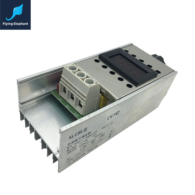 Digital Display 10000W Electronic Voltage Regulator High Power SCR AC220V