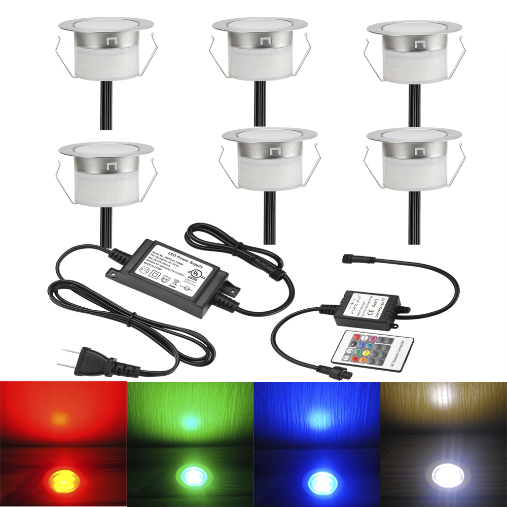 10pcs/lots Rgb Color Led Outdoor Light For Patio Pavers Lamp Square Step Villa Garden Yard Jardin Decoration Underground Lamp Led Underground Lamps