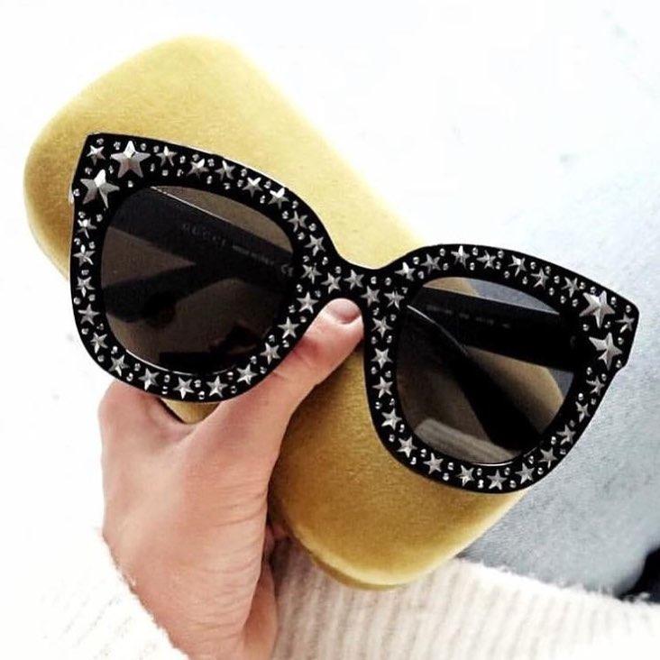 CCSPACE 7 Couleurs G Diamant Crystal Star lunettes de Soleil Pour Femmes  Carré Marque Lunettes Designer Femme Shades UV Protection 45285 dans  Lunettes de ... 5a7eb51286d1